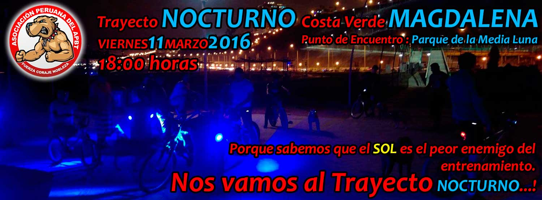 Trayecto NOCTURNO – Costa Verde ( Magdalena )
