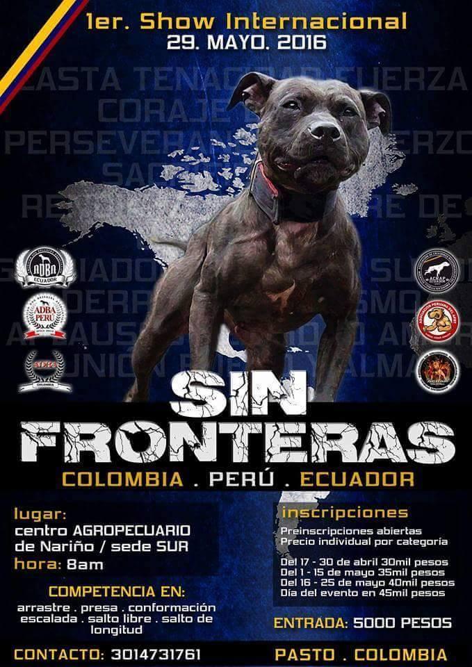 1er Show Internacional – APBT SIN FRONTERAS / 29 MAYO 2016