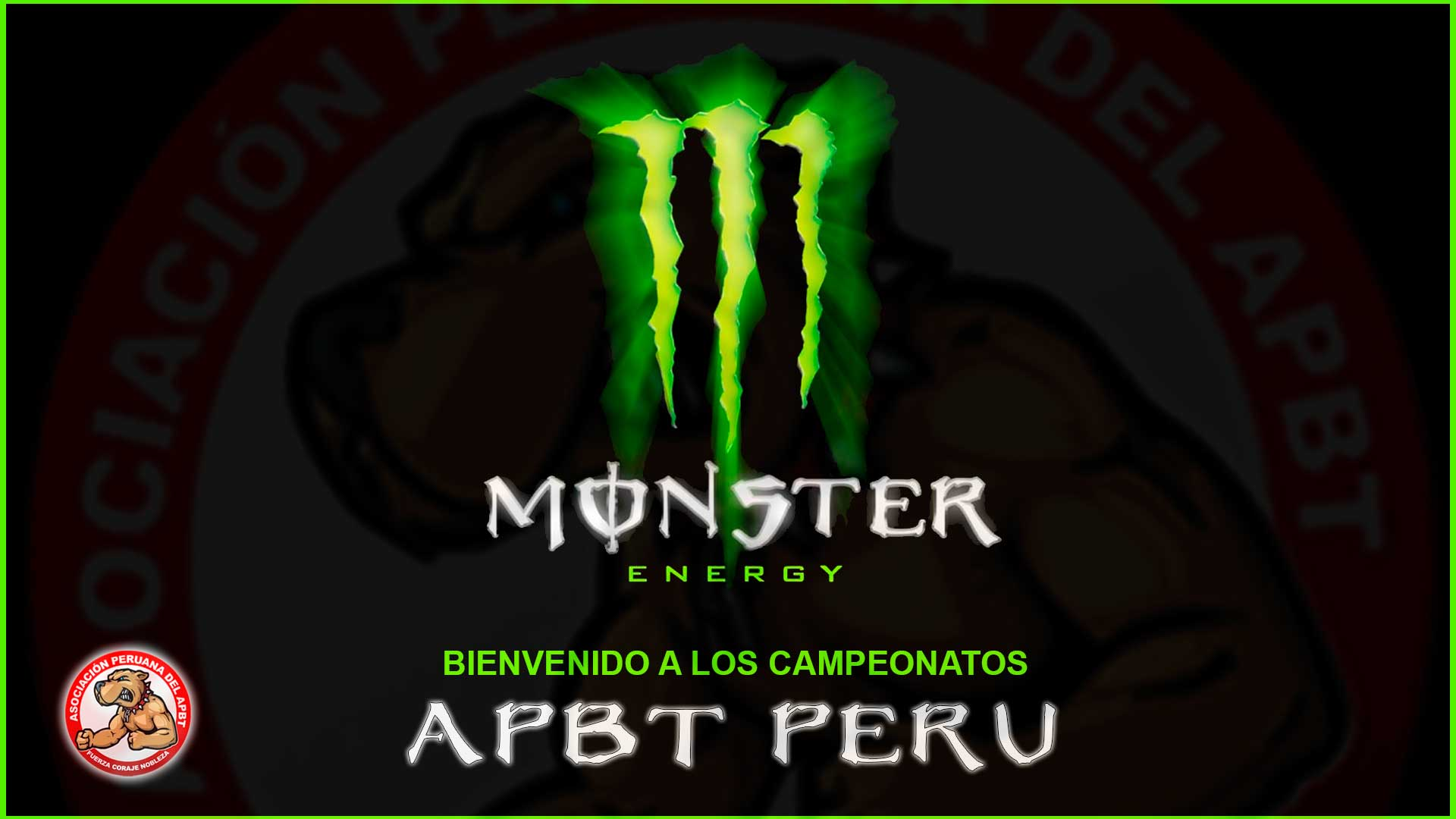 Bienvenido Monster Energy a los Campeonato Pit Bull – Apbt Peru