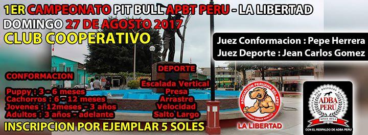 1er Campeonato Pit Bull Apbt Peru – La Libertad