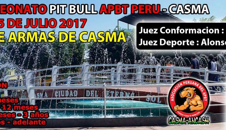 2DO Campeonato Pit Bull Apbt Peru – Casma