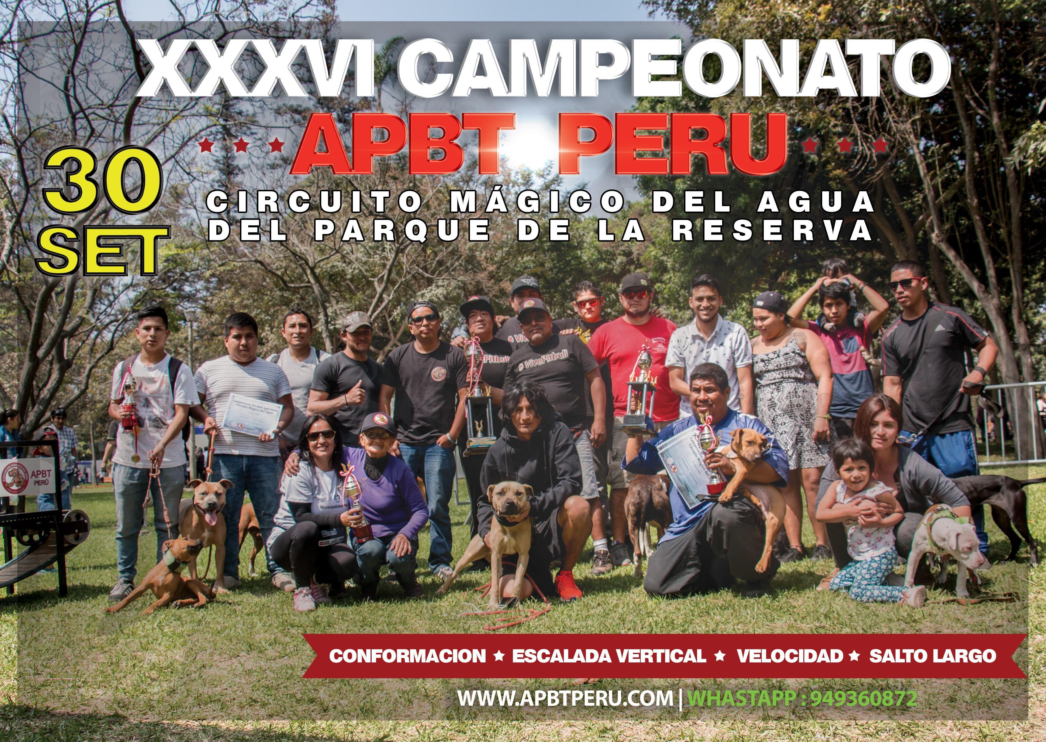 XXXVI Campeonato Apbt Peru en el Circuito Magico del Agua
